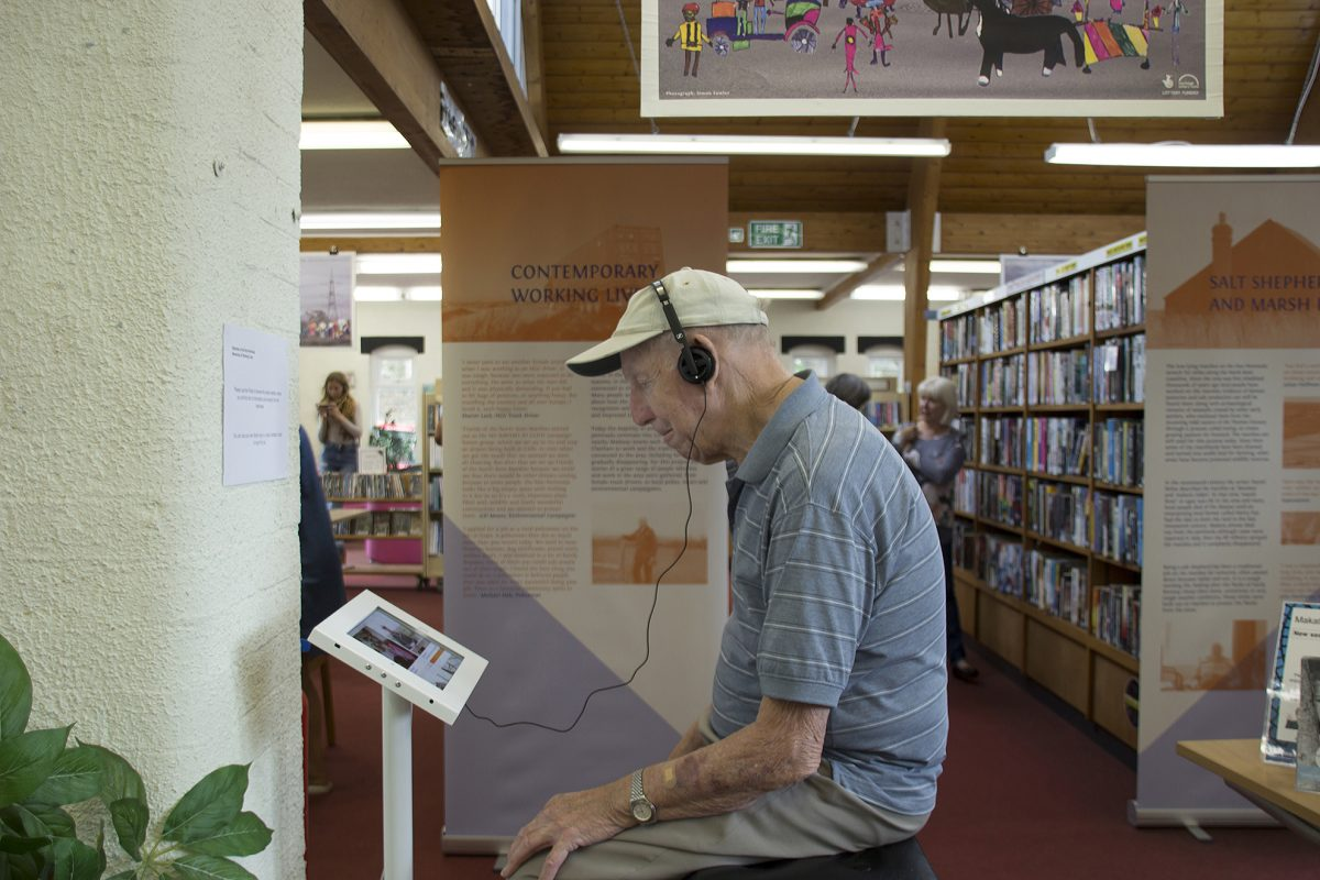 Histories of the Hoo Peninsula, Exhibition at Hoo Library, 2017. Photo: Simon Fowler